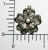 "(Package of 12) 1""  Dogwood Charm (Matte Silver Ox)"