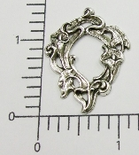 (Package of 12) Victorian Open Floral (Matte Silver Ox)