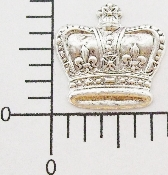 (Package of 12) Large Crown NR (Matte Silver)