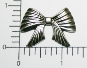 (Package of 12) Pleated Bow NR (Matte Silver)