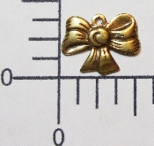 "(Package of 12) 1/2"" Mini Bow Charm (Brass Ox)"