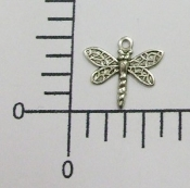 (Package Of 12) Tiny Dragonfly Charm (Matte Silver)