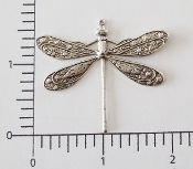 (Pkg. Of 12) Large Dragonfly WR (Matte Silver Ox.)
