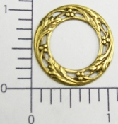 (Package Of 12)  Round Filigree Open Center (Brass Ox)