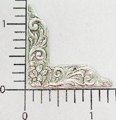 "(Package Of 12) 1-1/4"" Victorian Corner (MATTE SILVR OX)"