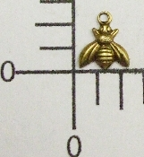 "(Package Of 12) Tiny 1/4"" Bee w/Ring (Brass Ox)"