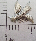 "(Package Of 12) 1"" Flying Bee - N/R (Matte Silver Ox)"