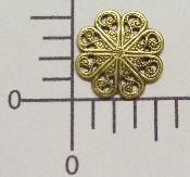 "(Package Of 12) 1/2"" Round Filigree (Brass Ox)"