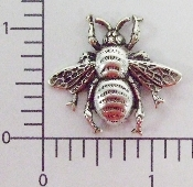 "1-1/4"" Large Bee Matte Silver Ox (Package Of 12)"
