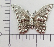 "(Package Of 12) 1-1/4"" Butterfly - NR (Matte Silver Ox)"