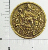 (Package Of 12) Conquistador & Cupid in Circle (Brass Ox)