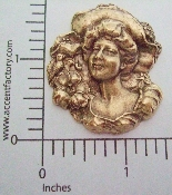 (Package Of 12) Victorian Woman in Hat (Brass Ox)