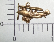 (Package Of 12) Small Airplane Charm  (Brass Ox)