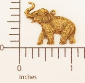 (Package Of 12) Elephant Charm (Brass Ox)