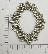 (Package Of 12) Oval Victorian Flowers Frame (Matte Silver O