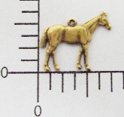 (Package Of 12) Sm Standing Horse Charm Fac R (Brass Ox)
