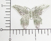 "(Package Of 12) 1-1/2"" Butterfly w/Dots (Matte Silver Ox)"