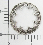 2 Pc Ornate Victorian Circle Frame Finding Stamping SILVER Ox