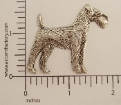 (Package Of 12) Airedale Dog Large N/R (Matte Silver Ox)