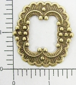 (Package Of 12) Squared Oval Victorian Frame (Brass Ox)