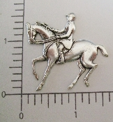 (Package Of 12) Horse,  English Rider (Matte Silver Ox)
