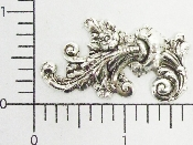12 Pc Victorian Floral Scroll SILVER Ox