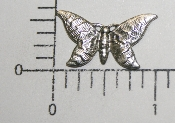 "(Package Of 12) 1"" x 1/2"" Butterfly N/R (Matte Silver Ox)"