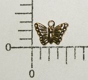 "(Package Of 12) 3/8"" Butterfly Charm (Antique Gold)"