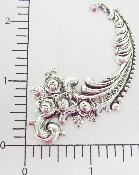 (Package Of 12) Victorian Floral Scroll (Matte Silver Ox)