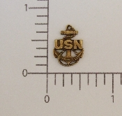 (Package Of 12) US Navy Charm (Brass Ox)