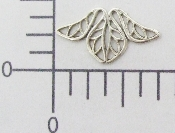 (Package Of 12) Small Filigree Angel Part (Matte Silver Ox)