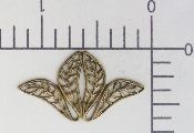 (Package Of 12) Medium Filigree Angel Part (Brass Ox)