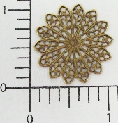 "(Package Of 12) 1-1/8"" Round Filigree (Brass Ox)"