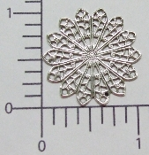 "(Package Of 12) 1-1/8"" Round Filigree (Matte Silver Ox)"