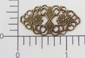"(Package Of 12) 1-1/4"" X 3/4"" Vict Filigree (Brass Ox)"