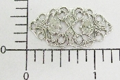 "12 Pc 1-1/4"" X 3/4"" Vict Filigree Silver Ox"