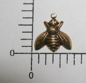 "(Package Of 12) 5/8"" Small Bee Charm (Brass Ox)"