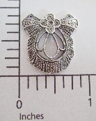 (Package of 12) Victorian Filigree (Matte Silver Ox)