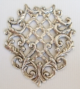 (Package Of 12) Mesh Weave Filigree Ornament (Matte Silver O
