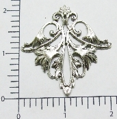 (Package Of 12) Ornate Diamond Shape Filigree (Matte Silver