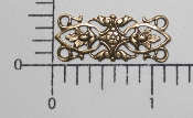 (Package Of 12) Ornate Bar Shape Filigree (Brass Ox)