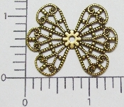 (Package Of 12) Wing Type Filigree (Brass Ox)