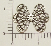 (Package Of 12) Wing Type Filigree (Matte Silver Ox)