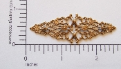 "(Package Of 12) Floral Knots Ornate Filigree 2-1/2"" (Brass O"