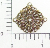 (Package Of 12) Triple Dangle Lacy Filigree (Brass Ox)