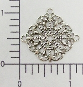 (Package Of 12) Triple Dangle Lacy Filigree (Matte Silver Ox