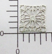 "(Package Of 12) 5/8"" Square Filigree (Connector)(Matte Silve"