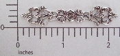 (Package Of 12) Long & Narrow Floral Filigree (Matte Silver