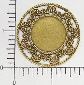 "(Package Of 12) Round w/Filigree Edge 1-3/4"" (Brass Ox)"