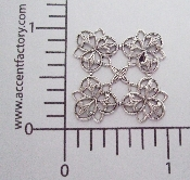 (Package Of 12) 4 Corner Lacey Filigree (Matte Silver Ox)